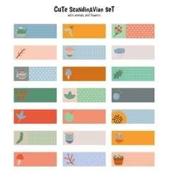 Cute stickers for calendar or planners vector