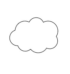 dotted shape cute cloud weather design icon vector image vector image
