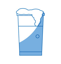 Drink cup foam cold fresh design vector