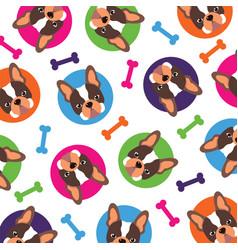 french bulldog pattern vector image