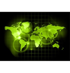 green map of the world vector image