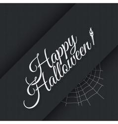 Happy halloween vintage lettering background vector