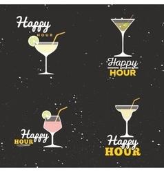 Happy hour labels vector image vector image
