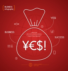 Income and Success Business Infographics vector image vector image