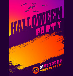 Invitation fof halloween party vector