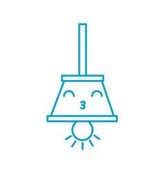 kawaii hanging lamp bulb light decoration cartoon vector image