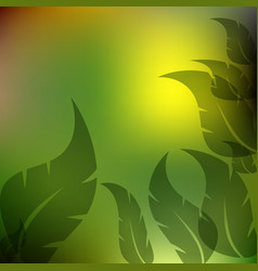 Leaves green and yellow background vector