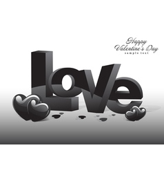 Love Valentine Dark Background vector image vector image
