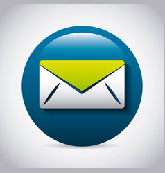 mail icon design vector image
