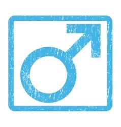 Male symbol icon rubber stamp vector