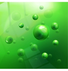 molecules background vector image