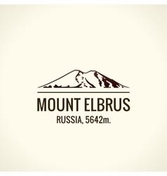 Mountain tourist logo Emblem Mount vector image vector image