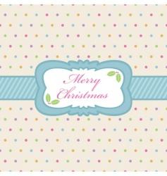 polka dot Christmas vector image vector image