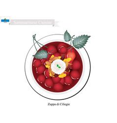 San marino sammarinese zuppa di ciliegie che vector
