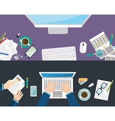 Set of flat design concepts for business finance vector image vector image