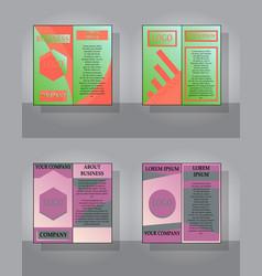 set of white business brochure and leaflet flyer vector image