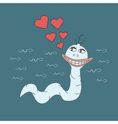 Spermatozoon in love and very happy vector image vector image