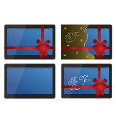 Tablet Set vector image vector image