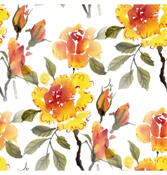 Watercolor flowers roses vector