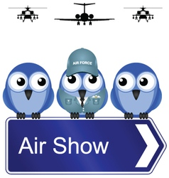 AIR SHOW SIGN vector image