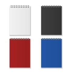 Realistic notebook set vector image