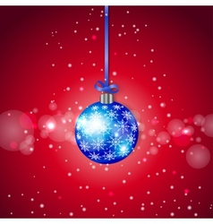 Blue Sparkling Christmas Ball vector image