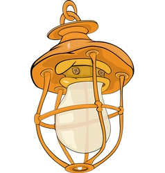 Old yellow lamp vector