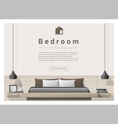 Interior design bedroom background 1 vector