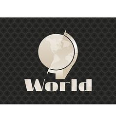 Globe art deco seamless pattern on background vector image