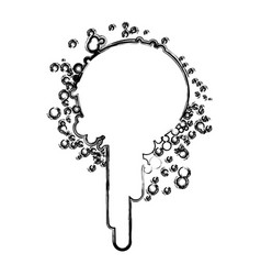 blurred silhouette ink splash paint icon vector image
