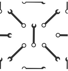Spanner icon seamless pattern on white background vector