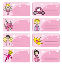 Princess labels vector image