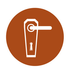 Modern door handle icon vector