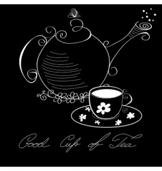 Cup of tea poster vector