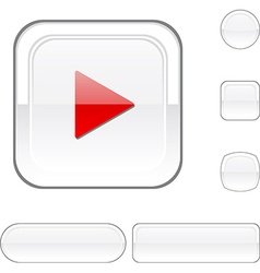 Play white button vector