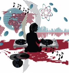 Music poster dj vector