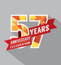57th years anniversary celebration design vector