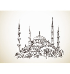 Blue mosque vector