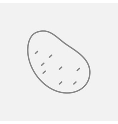 Potato line icon vector
