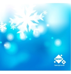 Winter abstract backround vector