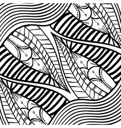 Black and white draw design abstract vector