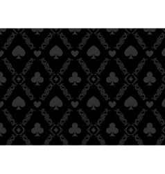 Luxury casino gambling poker background pattern vector image