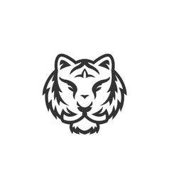 Tiger logo on white background vector
