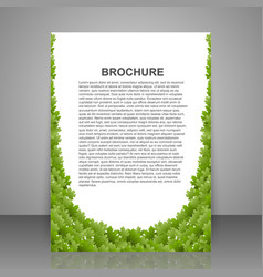 Abstract brochure design template spring green vector