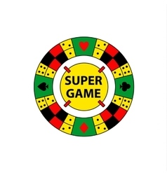Circle logo super game desktop gambling vector