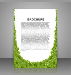 abstract brochure design template Spring green vector image