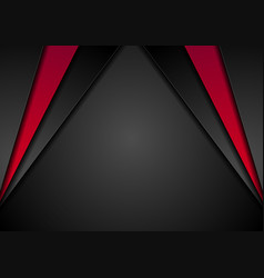 abstract corporate red black background vector image