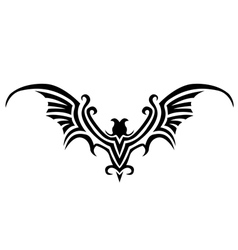 Bat tattoo vector
