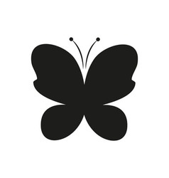 Butterfly black simple icon on white background vector
