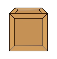 carton box packing isolated icon vector image